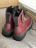 Яскраві вишневі зимові черевики, фото 3