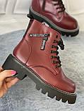 Яскраві вишневі зимові черевики, фото 6