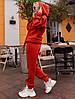 Спортивный женский костюм на флисе спортивного кроя, фото 4