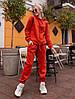 Спортивный женский костюм на флисе спортивного кроя, фото 2