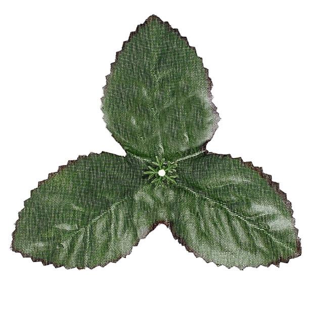 Лист искусственный розы тройка  10 см(100 шт. в уп.)