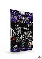 """Набор для творчества алмазная живопись Diamond art """"Тигр"""" DAR-01-09 33*23см DankoToys"""