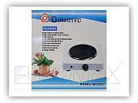 Электроплита настольная Domotec 5821 эмаль, серый, механическое, 1000W, электроплита, электроплита domotec