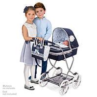 "Коляска-люлька для кукол DeCuevas ""Reborn"" с сумкой Синяя Арт. 80225"