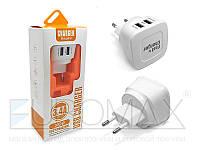 Сетевой адаптер для зарядки X02 3,4А, 2USB, 220В, пластик, сетевой адаптер, зарядное устройство