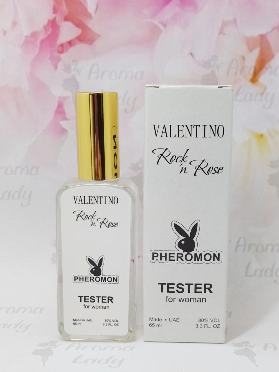 Тестер с феромонами женский Valentino Rockn Rose  (Валентино Рокен Роуз) 65 мл