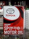 Оригінальне моторне масло TOYOTA SP GF6A 0W-20, 4л., фото 3