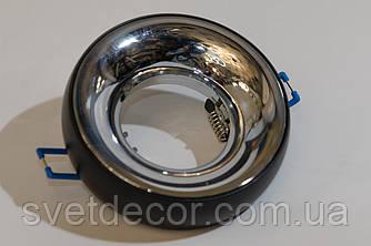 Светильник встраиваемый точечный Feron DL1842 MR-16 GU5.3 алюминиевый черный хром