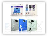 Цифровые напольнные весы S-2015K с рисунком, квадратные, стекло, 180кг, весы напольные, весы
