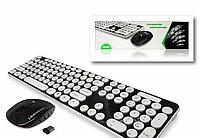 Беспроводная мультимедийная клавиатура HK3960 разные цвета, оптическая лазерная, мышка, клавиатура, фото 1