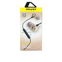 Навушники для телефону Awei ES-910TY з мікрофоном, вакуумні, різні кольори, навушники, навушники Awei ES-910TY, фото 1