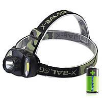 Налобный фонарь аккумуляторный Bailong BL-C936 светодиодная, LED, пластик, черный, налобный фонарь, фонарь, фото 1