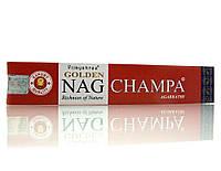 Благовония Golden Nag Champa Vijashree 15г. Аромапалочки Золотая Наг Чампа (23482)