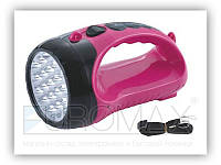 Ліхтар світлодіодний YAJA YJ-2817A вбудований акумулятор, 15LED, висувна вилка, ручний, пластик, різні, фото 1