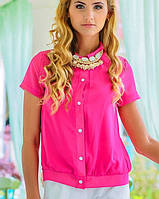 Блузка с коротким рукавом   Шифон лето sk