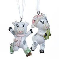 "Набор подвесок ""Веселые бычки"" 6,5х2 см (полистоун) 6 шт. Символ 2021 года, фото 1"