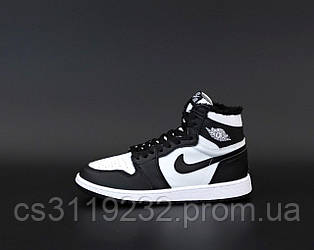 Мужские кроссовки зимние Nike Air Jordan Winter (мех) (черные)