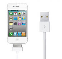USB кабель для синхронізації пристроїв USB-iPhone4 Inkax CK-13-I4-i4 1м, USB кабель, зарядний кабель Inkax, фото 1