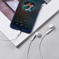 Наушники для телефонов Hoco L10 Type-C, с микрофоном, белый, вакуумные, наушники, наушники Hoco L10, фото 1