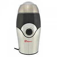 Електрична кавомолка-подрібнювач Domotec MS 1107 150Вт, 220V/50HZ, метал, електрична кавоварка, кофемолка, фото 1