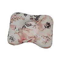 Ортопедическая подушка для новорожденных двухсторонняя Акварельные цветы