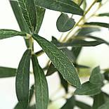 Искусственная ветка оливка  зеленая 88 см, фото 6