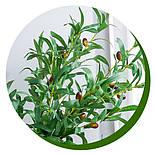 Искусственная ветка оливка  зеленая 88 см, фото 7