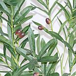 Искусственная ветка оливка  зеленая 88 см, фото 5