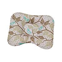 Ортопедическая подушка для новорожденных двухсторонняя Нежные веточки