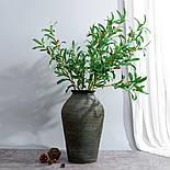 Искусственная ветка оливка  зеленая 88 см, фото 2