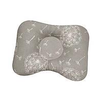 Ортопедическая подушка для новорожденных двухсторонняя Одуванчики