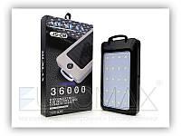 Зовнішній акумулятор power bank MONDAX JS-08M чорний, пластик, 36000мАч, mini USB, Li-lon, Power bank,, фото 1