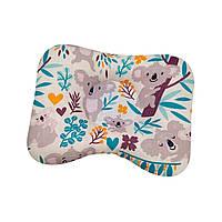 Ортопедическая подушка для новорожденных двухсторонняя Забавные коалы