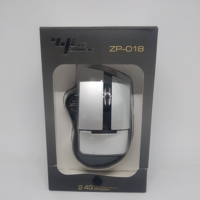 Беспроводная оптическая мышь ZHANPENG ZP018 мышка Серая