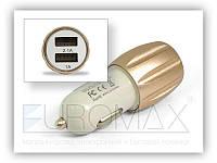 Автомобільний зарядний пристрій ART-002 USBx2, 2.1 A, АЗУ, автозарядное