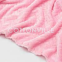 ✁ Відріз плюш Minky Косичка, рожевий 100х80 см