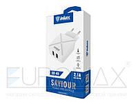 Сетевой адаптер для зарядки Inkax CD-49 USBx2, 220В, 2,1А, сетевой адаптер, зарядное устройство Inkax