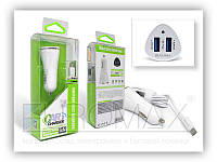 Автомобильное зарядное устройство BAVIN PC668-V8 2,4А, 2USB, кабель USB-microUSB, АЗУ, автозарядное BAVIN