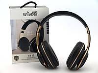 Бездротові накладні навушники ST17 FM, МР3, MicroSD, 3.5 мм, Bluetooth-навушники, накладні навушники, фото 1