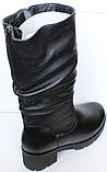 Сапоги на полную ногу женские зимние большого размера от производителя модель БР2120, фото 3