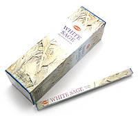 Благовония White Sage HEM 8шт/уп. Аромапалочки Белый шалфей (27569)