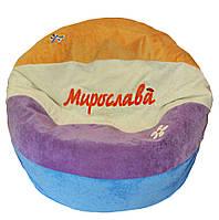 Бескаркасное Кресло-мяч пуф Арбуз мягкое для детей кресло-мешок