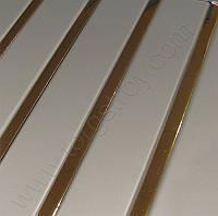 Реечный потолок: металлик с золотыми вставками, любые размеры