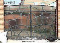 Ворота откатные с ковкой автоматические