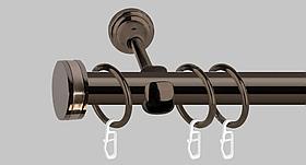 Карниз для штор металлический, однорядный 16 мм,