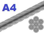 Трос нержавеющий 10 мм 7х19 А4 (250 м/бухта)
