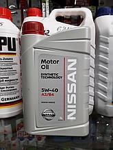 Моторне масло NISSAN SN/CF 5W-40, 1лит.