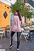Жіночий костюм-двійка батник з лосинами батал, розмір 50-52, 54-56, 58-60, фото 3
