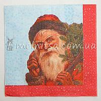 Салфетка для декупажа, Дед Мороз