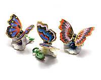 Бабочка на цветке фарфор (8,5х5х6см)